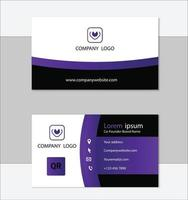 saubere professionelle Visitenkartenvorlage