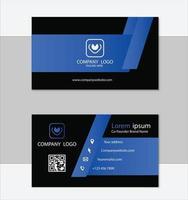 blå professionell visitkortsmall vektor