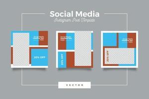 modern mall för sociala medier postbanderoll vektor