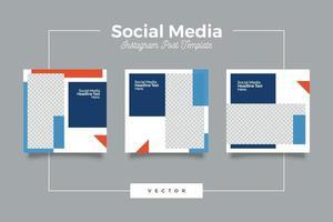 företags sociala medier post banner bunt vektor