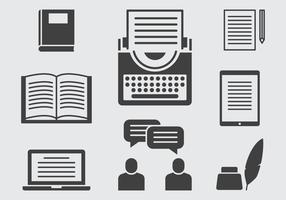 Geschichtenerzählen Icons vektor