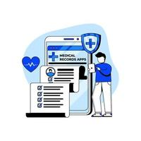 Medizin- und Gesundheitsikonenkonzept vektor