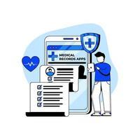 medicinsk och sjukvård ikon koncept vektor