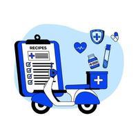 medicin leverans ikon koncept vektor