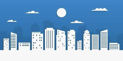 stadslandskap i pappersskuren stil. papper konst vektor illustration.