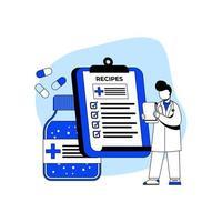 medicin och vård ikon koncept vektor
