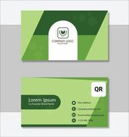 saubere Visitenkartenvorlage des Unternehmens