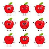 süße Apfelfrucht vektor