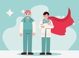 läkare som hjältar vektor