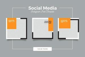 minimalistisk podcast social media postmall vektor