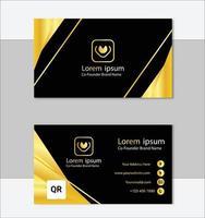 goldene professionelle Visitenkartenvorlage vektor