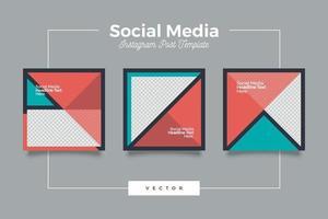 minimalistisk geometri sociala medier postmall vektor