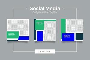 företags sociala medier postmall vektor