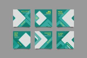 minimalistisk stor försäljning sociala medier postmall vektor