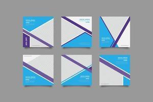 minimalistisk modern blå-ish sociala medier postmall vektor