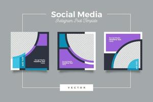 mall för digitala sociala sociala medier vektor