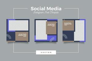 geometriska inläggsmall för sociala medier vektor