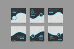 minimalistisk elegante sociala medier postmall vektor