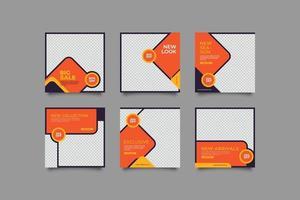 minimalistisk ny look sociala medier postmall vektor