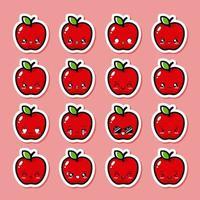 söt äppelfrukt vektor