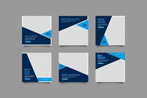 minimalistisk exklusiv inläggsmall för sociala medier vektor