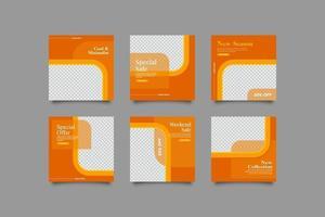 minimalistisk och cool social inläggsmall vektor