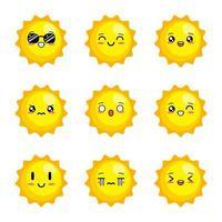 niedlicher Sonnenvektor vektor