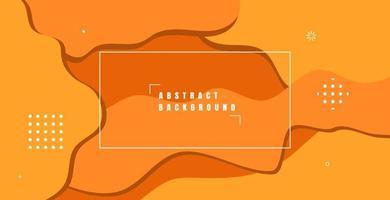 abstrakter orange flüssiger Farbhintergrund. dynamisches strukturiertes geometrisches Elementdesign mit Punktdekoration für Website, Poster, Flyer, Präsentation. Vektorillustration vektor