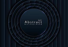 schwarze Papierschnitt Hintergrund abstrakte Papierschnitt Dekoration mit Schichten vektor