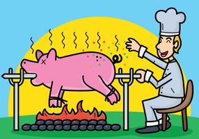 Schweinebraten-Vektor-Illustration vektor