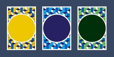 Einladungskarten geometrische Farbe weiß blau grün grün gelb Textur Hintergrund und Box Muster Vektor Design-Vorlage