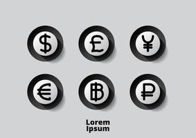 pengar ikon vektor illustration logotyp mall
