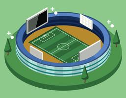 Isometrisches Fußballstadion vektor