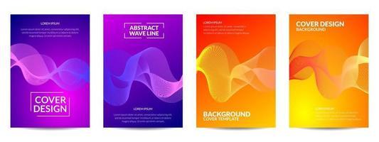 Abdeckung Design abstrakte Wellenlinie vektor