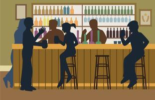 Überfüllten Bar Illustration vektor