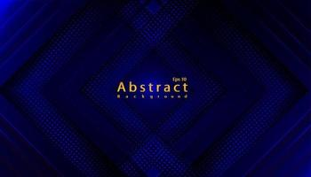 lyx abstrakt blå mörk teknik bakgrund med papperssnitt vektor
