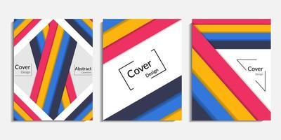 Cover Design, moderner abstrakter minimalistischer Hintergrund vektor
