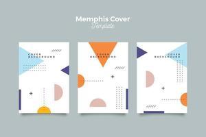 ren memphis 90-tal mönster täcka set vektor