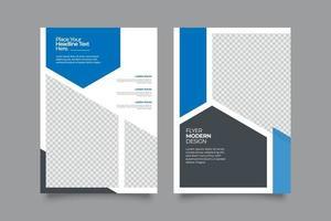 geometrische korporative Flyer Vorlage