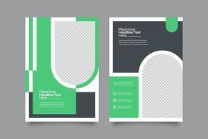 abstrakter Geschäftsflyer der grünen Schablone