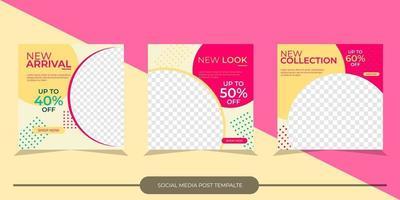 sociala medier post mall vektor