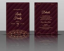elegant bröllop inbjudan kort mall design vektor