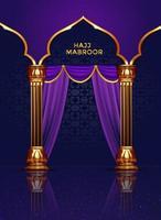 pilgrimsfärd realistisk islamisk gratulationskort design