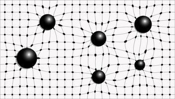 weißer karierter Hintergrund mit schwarzen Kugeln vektor