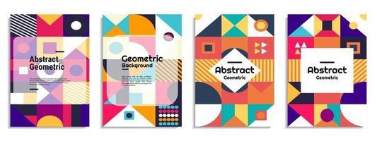 abstrakter Hintergrundabdeckungssatz vektor