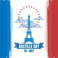 Bastille-Tag der Illustration des französischen Nationaltags vektor