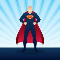 Glücklicher Vatertag Superdad mit Explosions-Hintergrund-Illustration