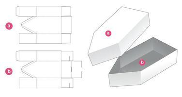 bootförmige Box mit Deckel gestanzte Schablone vektor