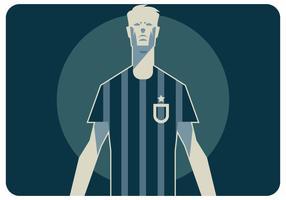 Abstrakt fotbollsspelare stående vektor