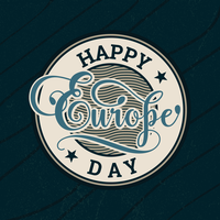 Europatag-Typografie vektor